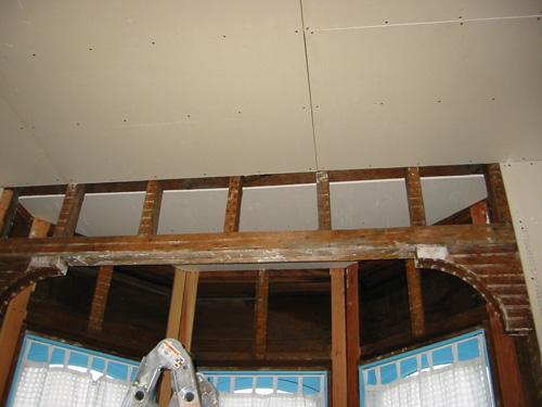 drywall: bay ceiling