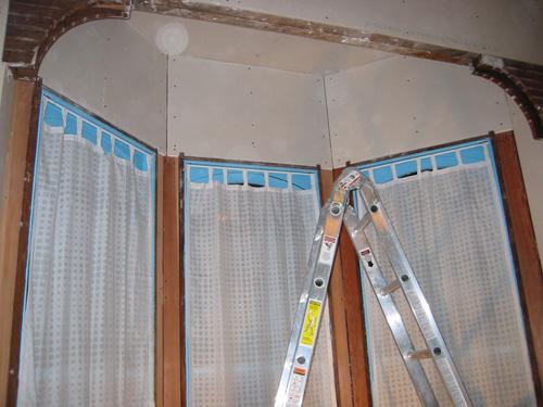 drywall: bay walls