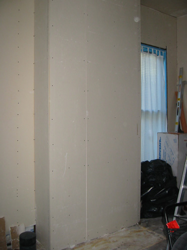 drywall: fireplace