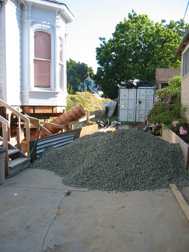 New gravel pile