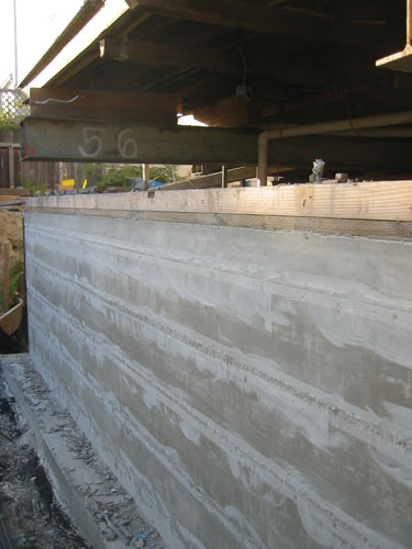 Flattened wall