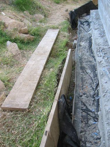 Removing retaining walls