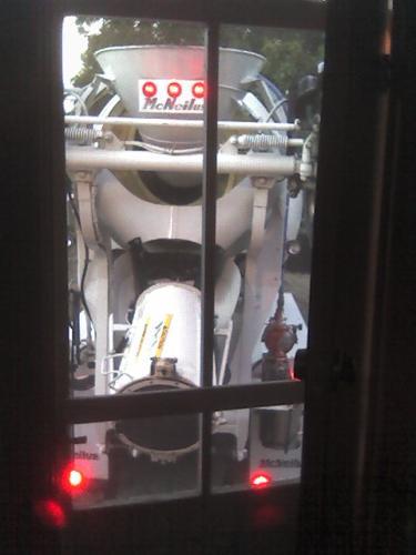 truck through back screen door