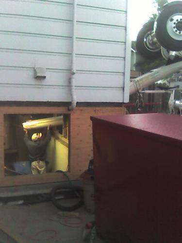 more chute into basement
