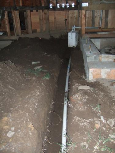 pipe through trench