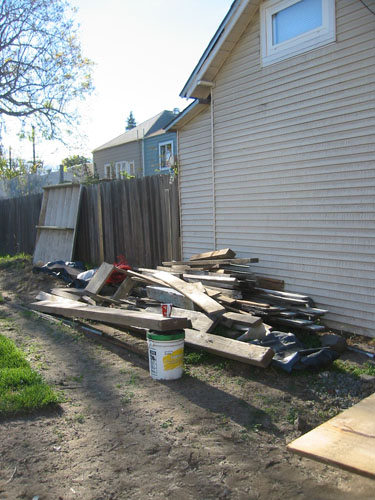 Cottage pile - before