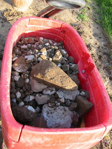 Wagon of rocks