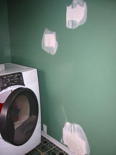 Laundry room drywall