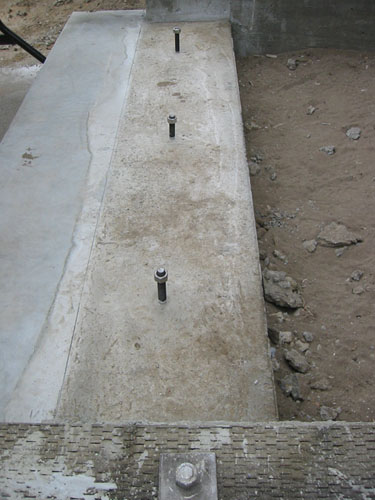 Footing, no formwork