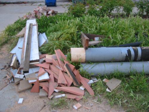 the shrinking pile of debris