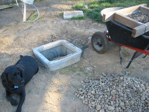 Shed digging