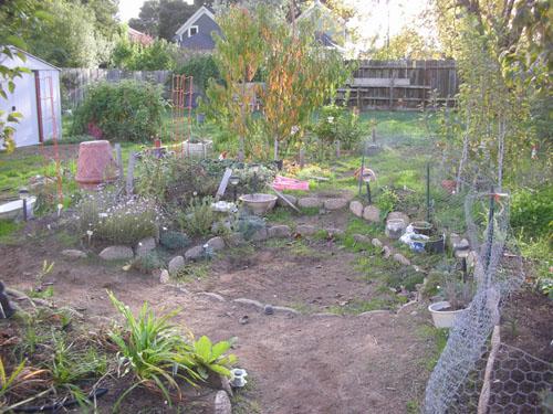 Expansive garden view