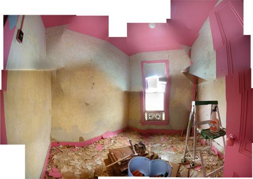 Still washing off wallpaper paste
