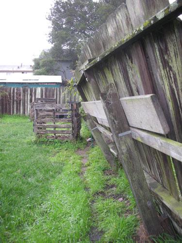 Leaned fence