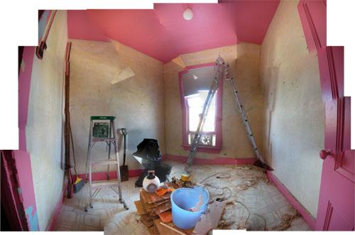 Wall washing finished