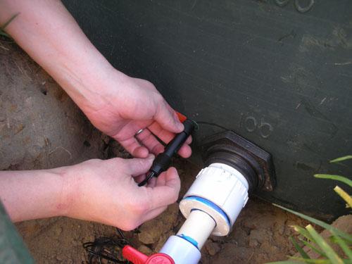 Installing the sensor