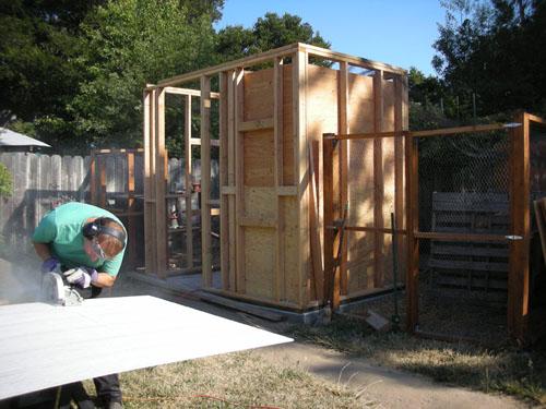 Blocked shed; Noel cutting siding