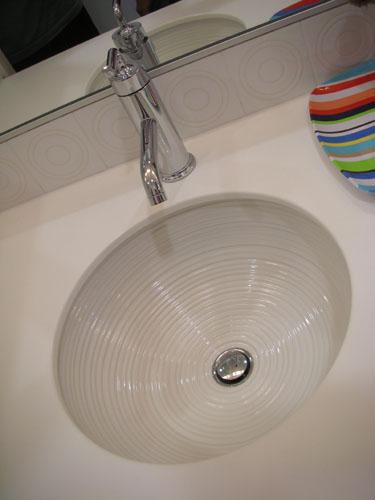 Nice round undermount sink