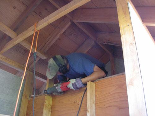 Shortening the center studwall for better access
