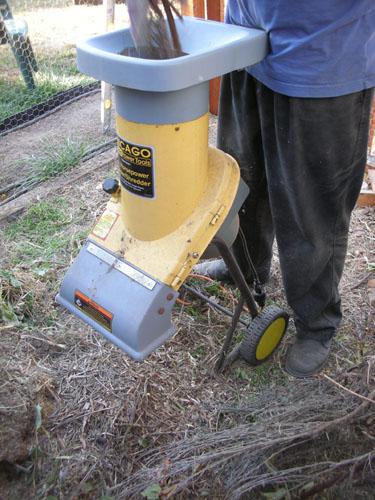 Shredding the brush pile