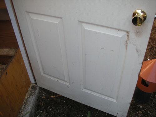 Door to the chicken room