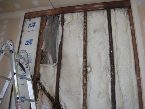 Compare bad insulation job to good