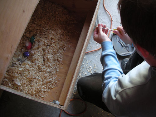 Fixing the hole in the nest box