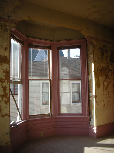 Dining room window, opened up