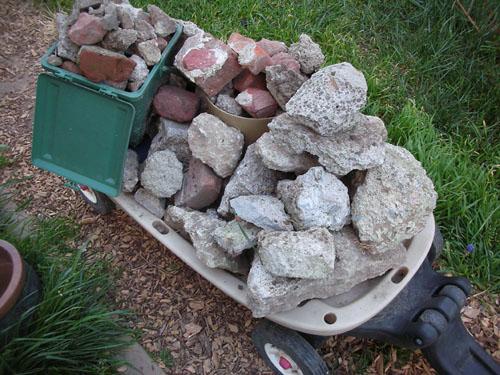 Pile of concrete chunks