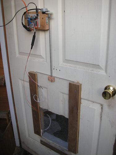 Door, installed
