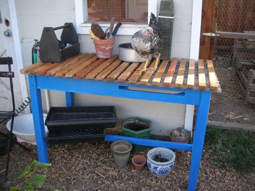 My new potting bench
