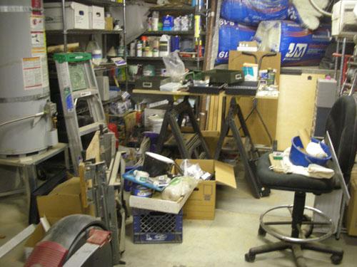 Basement before tidying