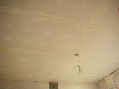 First mud on the ceiling