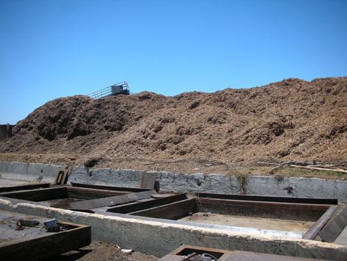 Ground up scrap wood