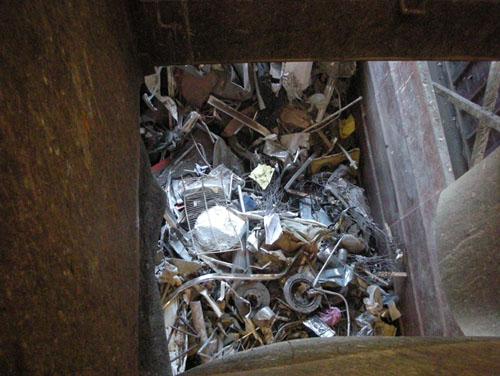 Pre-sorted metals bin