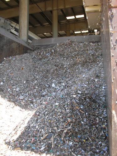 Fine landfill cover materials