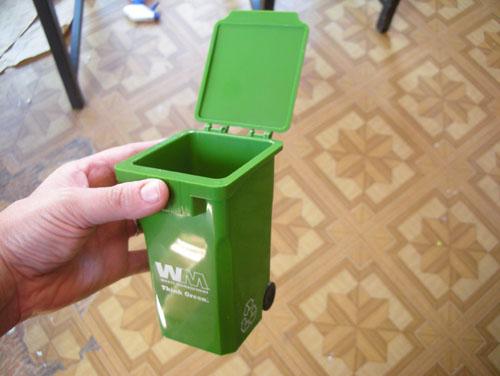 Toy green bin