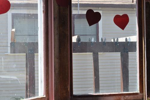 Pergola through the dining room window