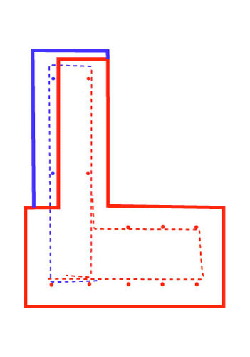 Rebar plan in section