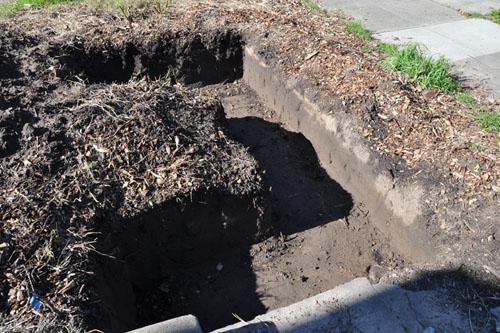 Post-rain trench