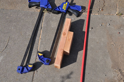 Tools for putting in the top cross-braces