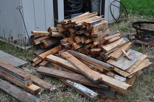Pile of used wood