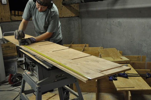 Noel cutting slots in plywood