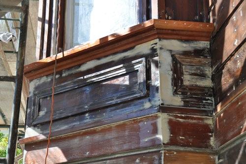 Rebuilt sill (plus epoxy)