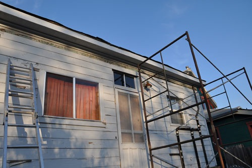 The back eaves boxed in