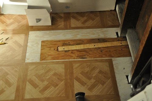 Repairing a hole in the floor