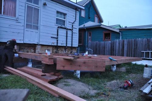 Putting the deck framing together