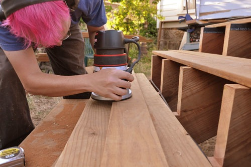 Routing the edge of the deck board