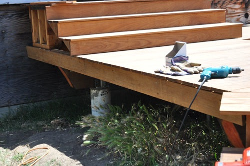 The side of the deck