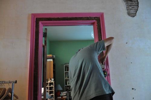 Noel removing paint